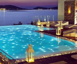 pool, luxury, and sea image