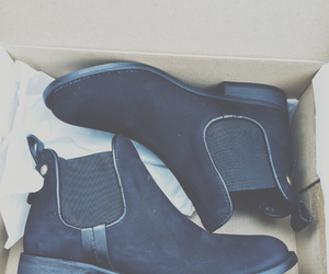 ankle boots, black shoes, and clothes image