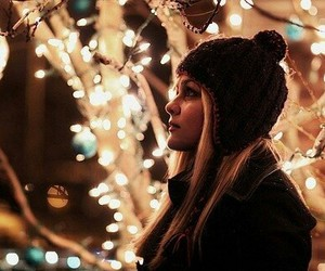 girl, happy, and winter image