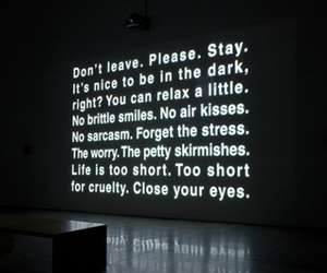 quotes, dark, and stay image