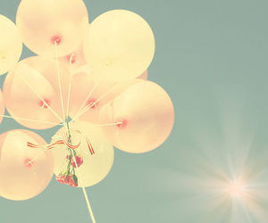 balloons and vintage image