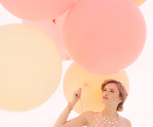 balloons, color, and girl image