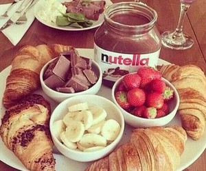 breakfast and nutella image