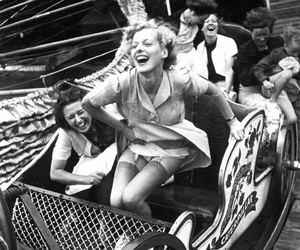 vintage, black and white, and fun image