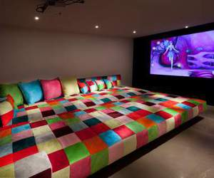room, bed, and tv image