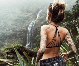 girl, tattoo, and nature image