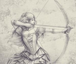 arrow, draw, and dress image