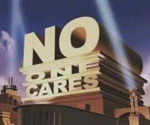 no, one, and cares image