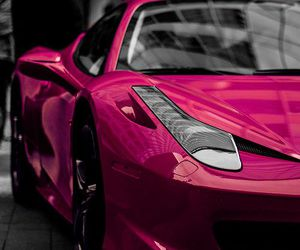 car, pink, and luxury image