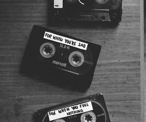 black and white and mixtape image