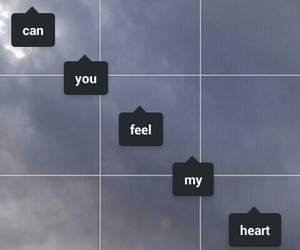 heart, quote, and sky image