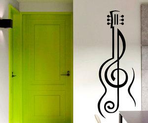 guitar, home decor, and sticker image