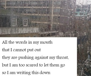 confession, rain, and words image