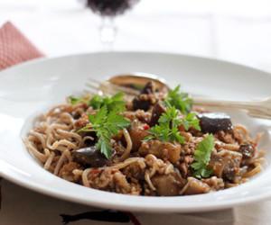 aubergine, food, and veal image