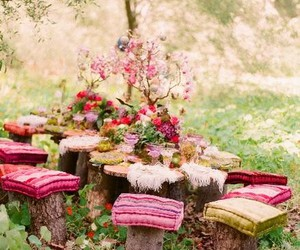 pink, garden, and nature image