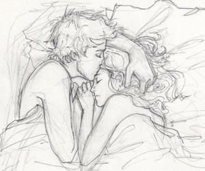 love, couple, and drawing image