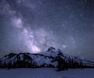 stars, mountain, and sky image