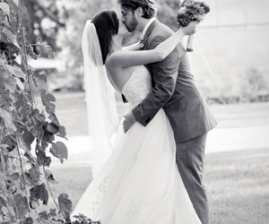 love, kiss, and wedding image