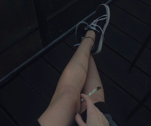 cigarrettes, grunge, and legs image