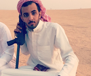 arab, desert, and gun image