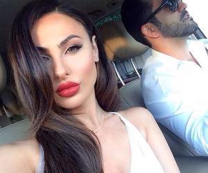 beauty, couple, and makeup image