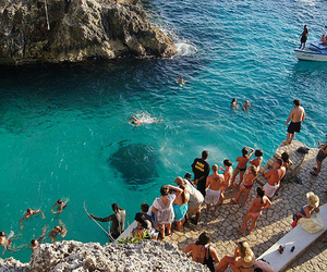 fun, party, and blue waters image