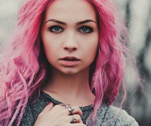 fashion, pink hair, and style image