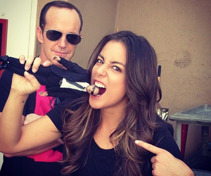 clark gregg, agents of shield, and chloe bennet image