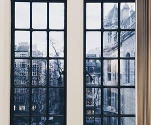 window, city, and winter image