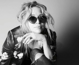 olsen, black and white, and sunglasses image