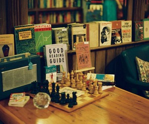 book, chess, and vintage image