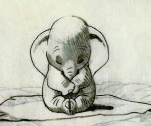 adorable, cute, and dumbo image