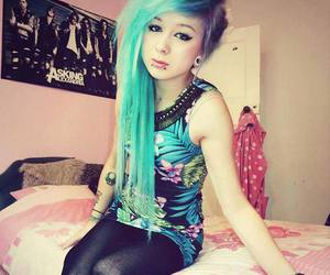 scene, dyed hair, and alt girl image