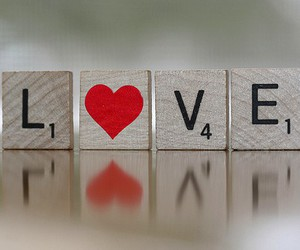 heart, Letter, and scrabble image