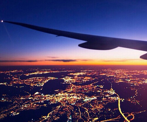 view, airplane, and beautiful image