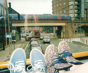 shoes, city, and vans image
