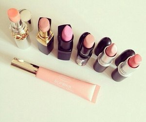 lipstick, make up, and pink image