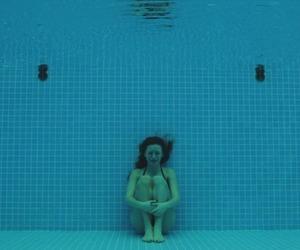 sad, water, and pool image