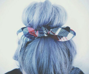 blue hair, hipster, and love image