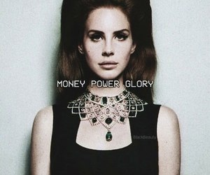 lana del rey, money power glory, and black and white image