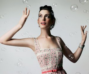 Anne Hathaway and bubbles image