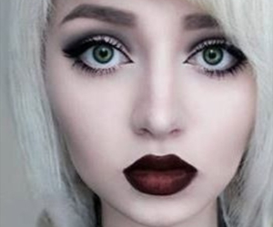 mouth, pretty, and makeup image