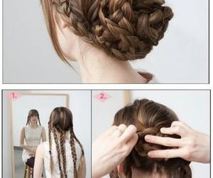 braid, bun, and diy image