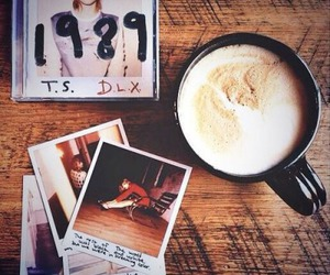 1989, Taylor Swift, and coffee image
