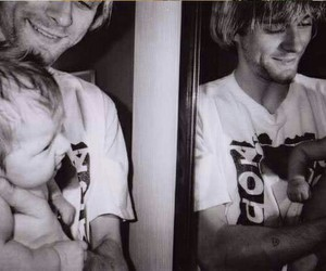 frances bean cobain and kurt cobain image