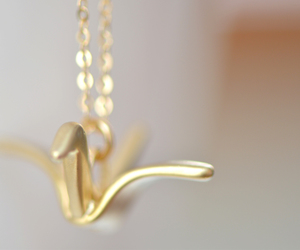 crane, dainty, and gold image