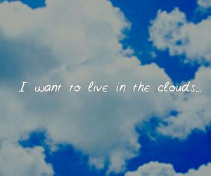 clouds, daydreaming, and wish image