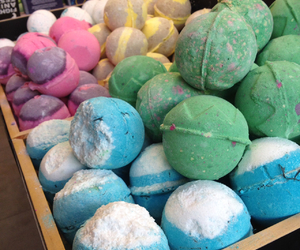 bath bombs, colorful, and love love image