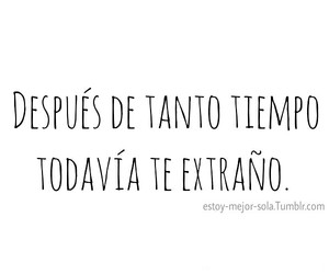 frases, tumblr, and te extraño image
