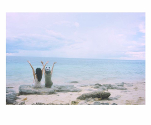 beach, life, and bestfriends image